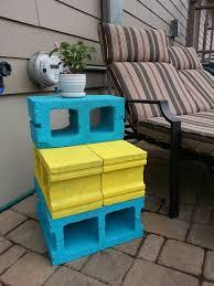 Diy cement block coffee table diy cement block coffee table the goal: Cinder Block End Table For The Patio Diy Patio Table Cinder Block Backyard Inspiration