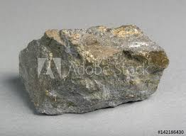 Sulfide Minerals Mineral Lead Glance Galena With Blende On Gray Background One Of
