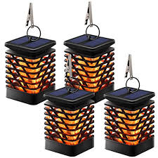 tomcare solar lights solar lanterns dancing flame outdoor hanging lanterns lights decoration lighting solar powered waterproof umbrella lanterns night light
