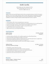 High School Student Resume Template For Microsoft Word Livecareer