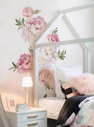 peony flowers wall stickers black and white peonies wall art