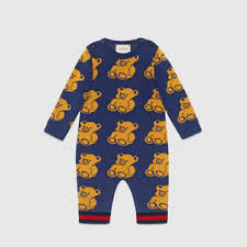 gucci outfits. baby bear jacquard sleepsuit gucci outfits s