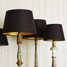 black and gold retro lamp shades