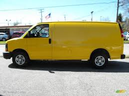 2007 Yellow Chevrolet Express 1500 Cargo Van #27919592 Photo #8 ...