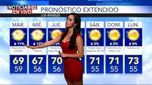 See authoritative translations of el pronostico del tiempo in english with example sentences and audio pronunciations. El Clima En Los Angeles Noticias 62 Youtube