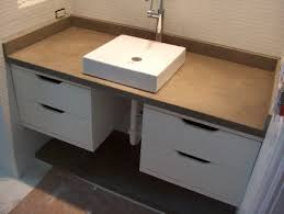 interior charcoal gray bathroom concrete vanity top dual sinks for concrete vanity top ideas from
