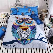 whole 4 cotton bedding kids owl boys girls bedding set 3d bed linen duvet cover bed sheet pillowcases full twin queen size bed king size bedding sets