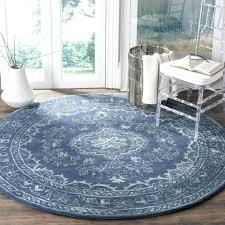 handmade glamour contemporary bohemian blue viscose rug 6 round area rugs navy canada