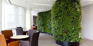 green wall office. An Interior Office With A Living Wall At Catlins, London Green -