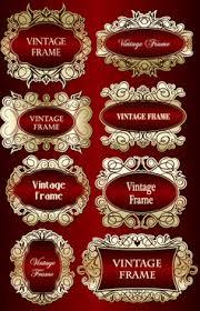 gold frame border vector. Contemporary Gold Set Of Vintage Gold Frame Design Vector And Gold Frame Border Vector W