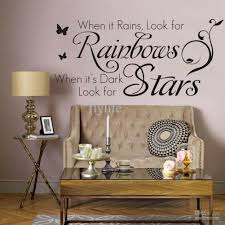 when it rains look for rainbows when it s dark look for stars vinyl wall lettering stickers quotes home art decor decals wall decals quotes vinyl wall  on stars vinyl wall art with when it rains look for rainbows when it s dark look for stars
