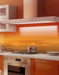 For Kitchen Splashbacks In The Clouds At Sunrise Printed Acrylic Kitchen Splashback