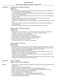 Ic Design Engineer Resume Circuit Design Engineer Resume Samples Velvet Jobs