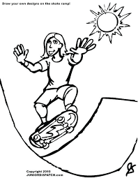 Free Coloring Pages Skateboard Coloring Pages Skateboard Coloring