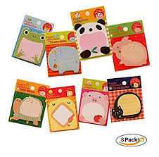 Aimeio Creative Cute Cartoon Animals Sticky Notes ... - Amazon.com
