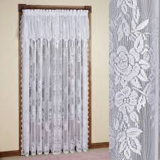 Lace Window Treatments Easy Style Carly Lace Curtain Panel With Attached Valance