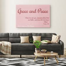 Canvas Print - Grace and Peace (Rose) — Love the Lord Inc