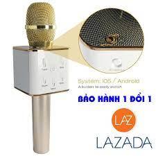 Mạch micro không dây, Mic hat karaoke q7 gia bao nhieu - Micro Karaoke  không dây kèm loa Bluetooth Q7 Model 1773 - BH Uy Tín 1 Đổi 1 bởi HQShop  247 -