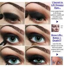 dark y eye makeup tutorial 1 secret to lift droopy eyes