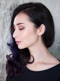plummy makeup purple hair