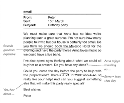 writing essays is cool  special surprise birthday party for his sister anna peter s email and the notes you have made then write an email to peter using all your notes