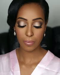 inspiration makeup wedding day bride black skin carnets mariage be