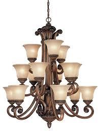 Dolan Lighting Dolan Designs 2403 54 15 Light 3 Tier Chandelier Bronze