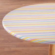 easter stripe vinyl elasticized table cover 358529