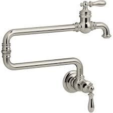 Wall Mounted Kitchen Faucets Kohler K 99270 Vs Artifacts Vibrant Stainless Steel Pot Filler