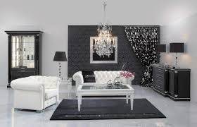 Inspiring Wonderful Black And White Contemporary Interior Along Black And White Living Room Decor