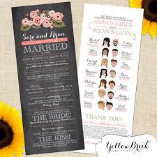 Fun Wedding Programs Fun And Creative Wedding Programs