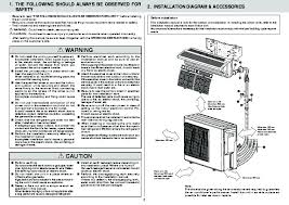 mitsubishi mxz 3a54va mxz 4a71va air conditioner installation manual mitsubishi electric owners manual 2 of 9