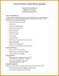 Resume Cashier Skills Professional Resume Templates