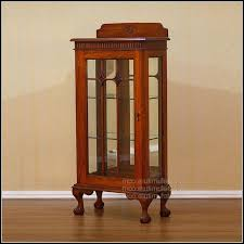 interior astounding small curio cabinets with glass doors 45 for interior designing home ideas with