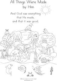 Bible Creation Coloring Pages Printable Childrens Church Ideas