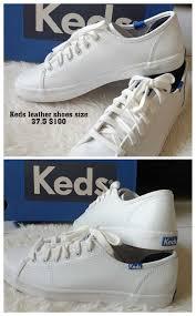 keds kickstart leather white blue women s fashion shoes sneakers on carou