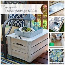 repurposed wooden crate table
