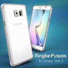 100% Original Ringke Fusion Case For Samsung Galaxy Note 5 - Full Protection Clear Back Cover Phone Cases