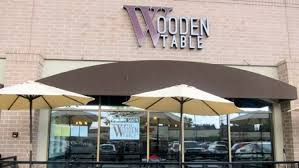 the wooden table