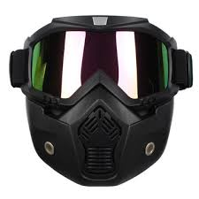 <b>detachable</b> modular helmet face mask shield goggles colorful lens ...