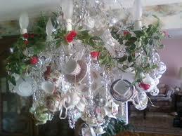 teacups in chandeliers