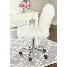 white unique office chairs. Linon Home Decor Faux Flokati White Armless Office Chair Unique Chairs M