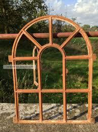 Antikes Stallfenster Aus Gusseisen Oben Rund Mit Tür 69cm X 50 5cm