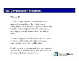 Basic Total Compensation Statement Template Free Package Plan