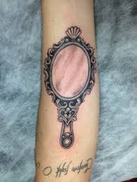 antique hand mirror tattoo. Hand Mirror Tattoo On Arm Sleeve Antique