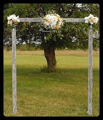 rustic wood wedding arch wedding arbor complete kit for indoor or outdoor use