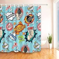 comic book shower curtain comics code authority shower curtains