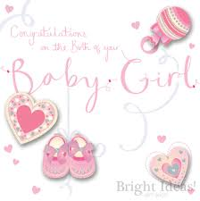Baby Girl Birth Card Congratulations