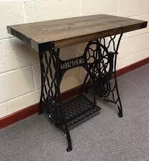 singer sewing machine table cast iron antique reclaimed furniture