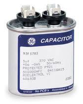 bestbuyheatingandairconditioning com 1 4 h p 1 speed condenser 5 mfd 370 volt oval motor run capacitor
